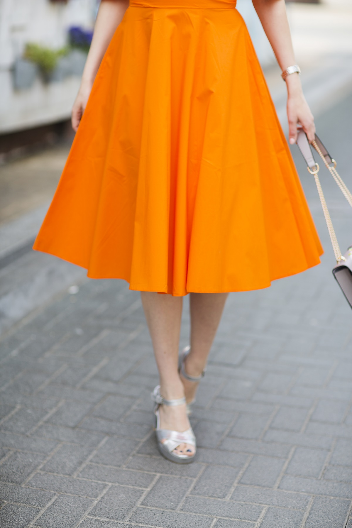 orange dress how to wear it